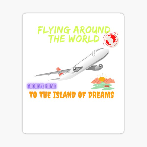 Fly World -Island Summer Vacation Retro Sticker