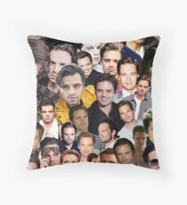 sebastian stan collage Throw Pillow