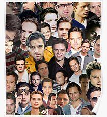 sebastian stan collage Poster