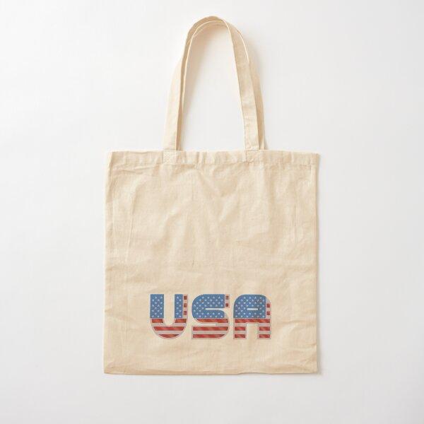 USA - Patriotic Flag Cotton Tote Bag