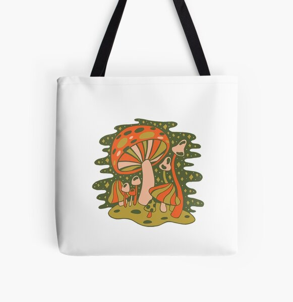 Mshrms art All Over Print Tote Bag