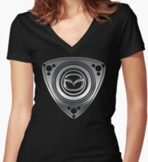 Mazda Rotary Women's Fitted V-Neck T-Shirt