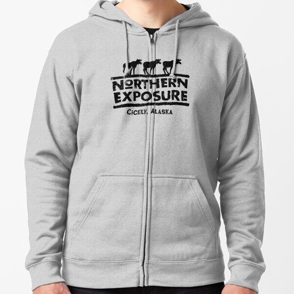 Northern Exposure Logo Faded Zipped Hoodie
