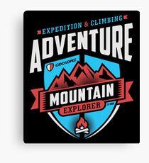 Adventure Mountain Graphic Art Canvas Print