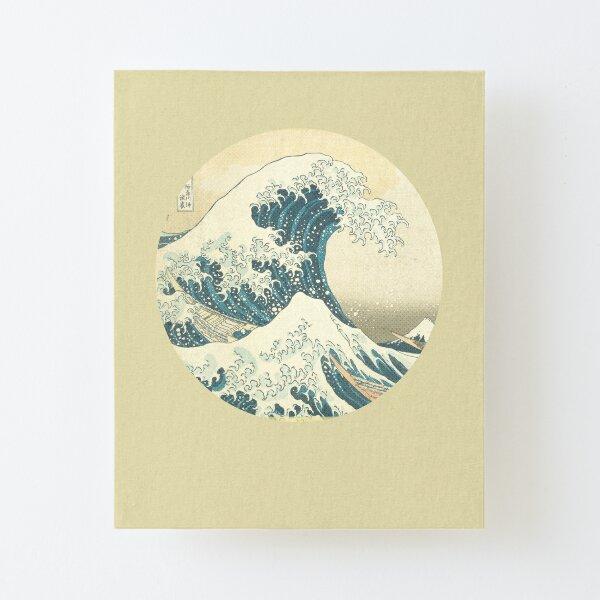 Tsunami by Hokusai Canvas Mounted Print