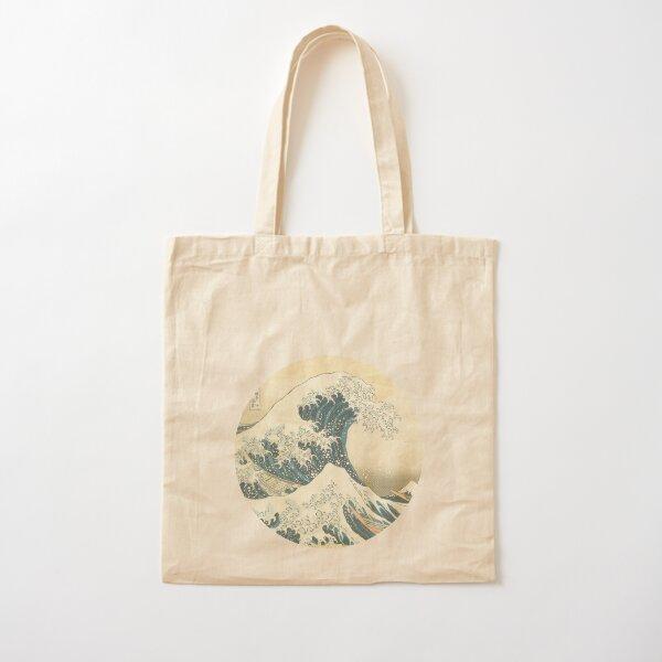 Tsunami by Hokusai Cotton Tote Bag