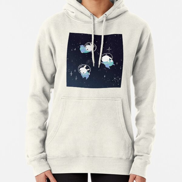 Space Bunnies Cute Pullover Hoodie