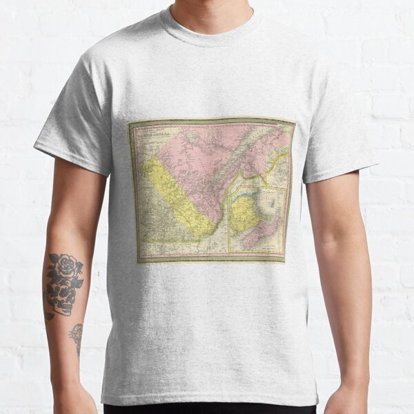 Vintage Map of Eastern Canada (1850) Classic T-Shirt