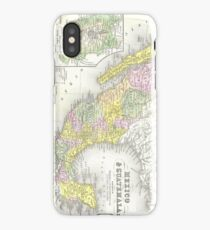 Vintage Map of Mexico (1850) iPhone Case