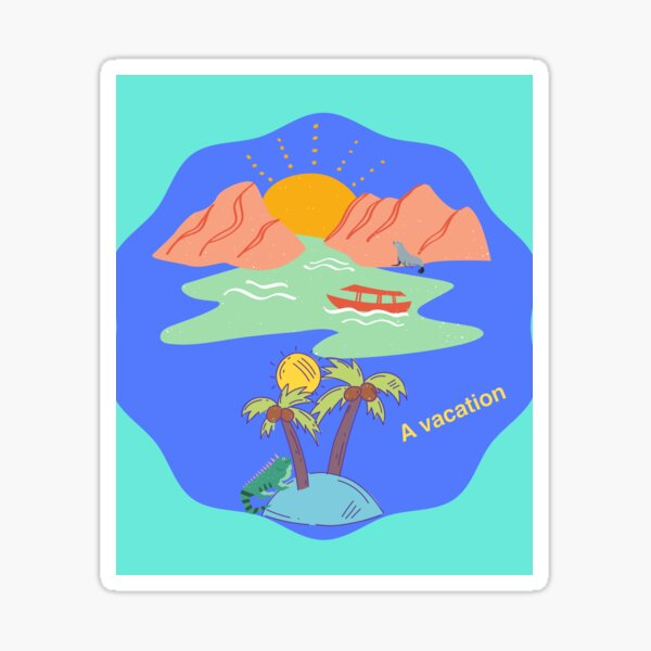 Life Is A Vacation Sticker