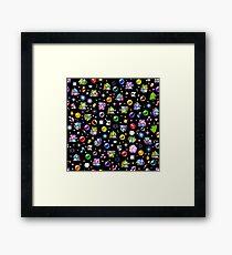 Bubble Bobble - Black Framed Print