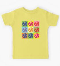 45 Record Holder Pop Art T-Shirt Kids Clothes