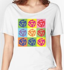 45 Record Holder Pop Art T-Shirt Women's Relaxed Fit T-Shirt