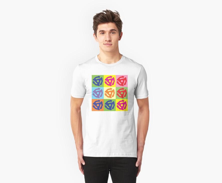 45 Record Holder Pop Art T-Shirt by retrorebirth