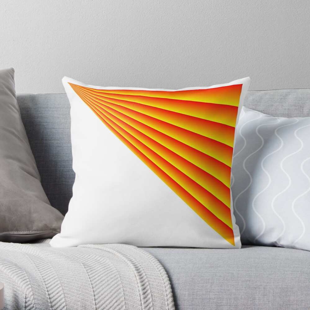 Linear Scalar Vector Orange Crush Throw Pillow