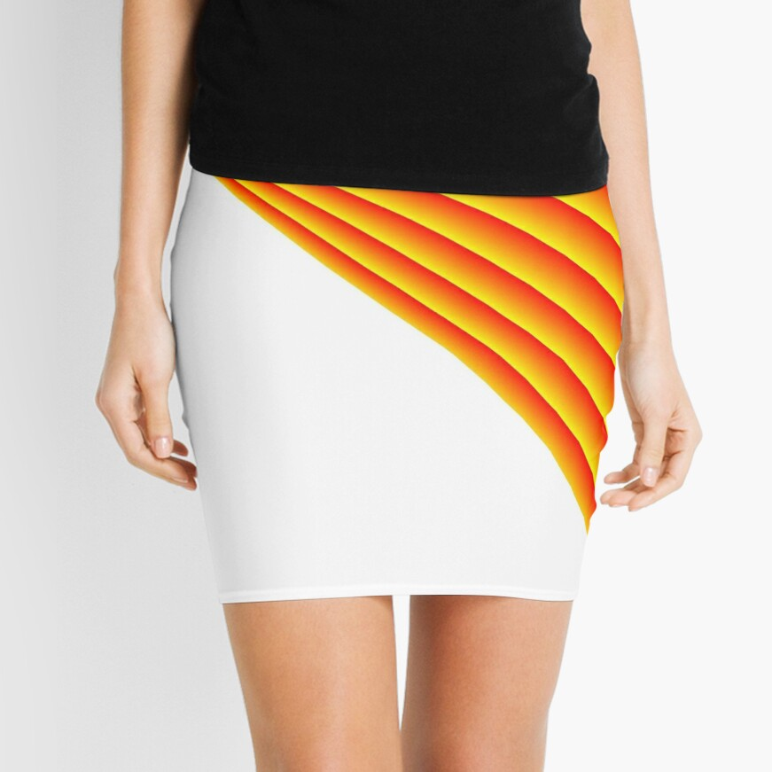 Linear Scalar Vector Orange Crush Mini Skirt