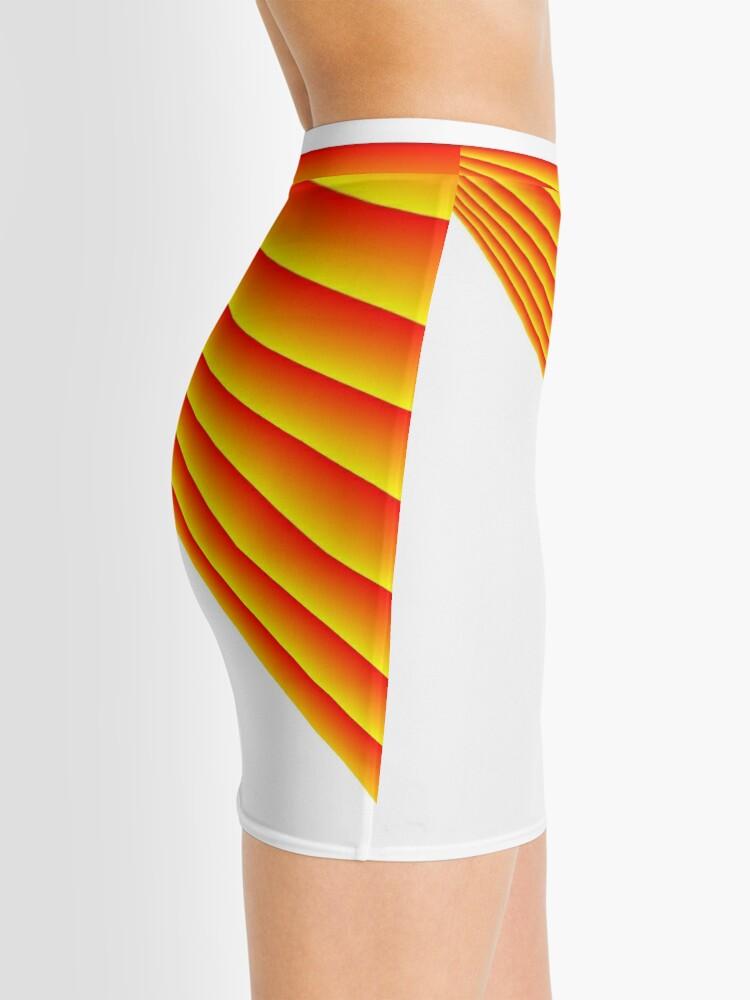 Alternate view of Linear Scalar Vector Orange Crush Mini Skirt