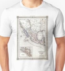 Vintage Map of Mexico (1852) Unisex T-Shirt