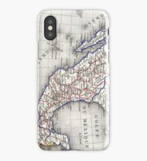 Vintage Map of Mexico (1852) iPhone Case