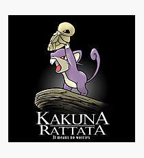 Kakuna Rattata Photographic Print