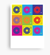 Vinyl Record Turntable Pop Art 2 Canvas Print