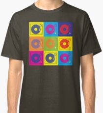 Vinyl Record Turntable Pop Art 2 Classic T-Shirt