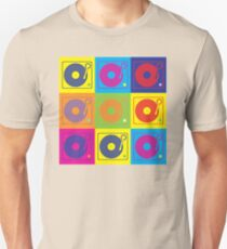 Vinyl Record Turntable Pop Art 2 Unisex T-Shirt