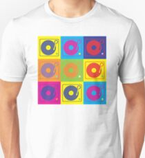 Vinyl Record Turntable Pop Art 2 T-Shirt