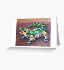 Chomp The Robo-Gator Greeting Card