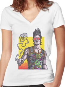 Fight Club #2 *69 dude Women's Fitted V-Neck T-Shirt