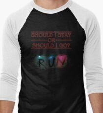 Stranger Things - Should I Stay or RUN? Men's Baseball ¾ T-Shirt