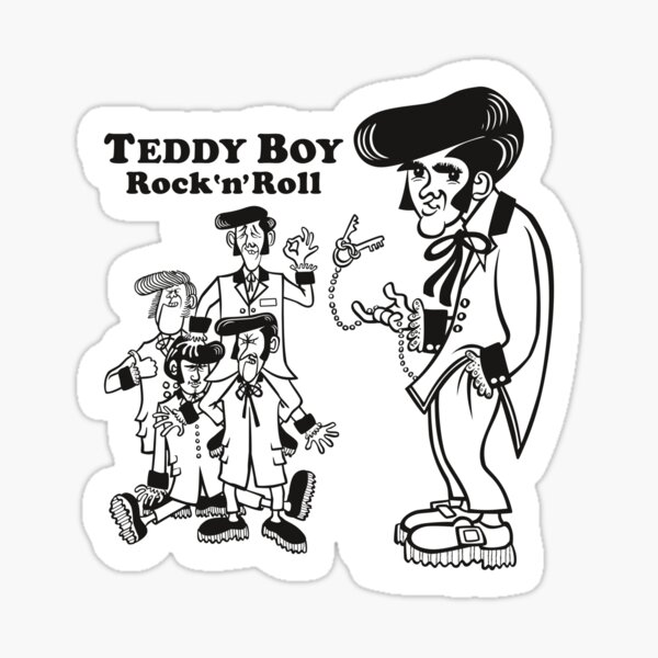 Teddy boy Sticker