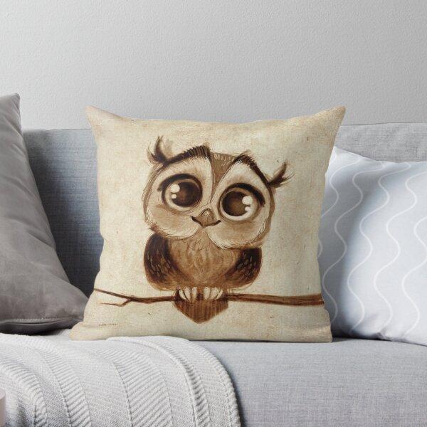 Doodles by David Kawena - Owl Throw Pillow