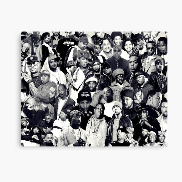 Hip Hop Legends Collage Canvas Print
