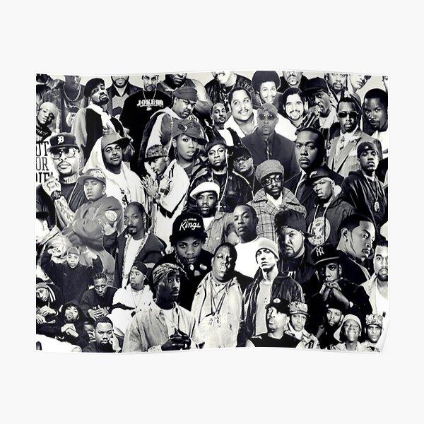 Hip Hop Legends Collage Poster By Saintsinnershop Redbubble
