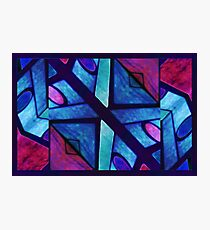 Abstract in Red and Blue Photographic Print