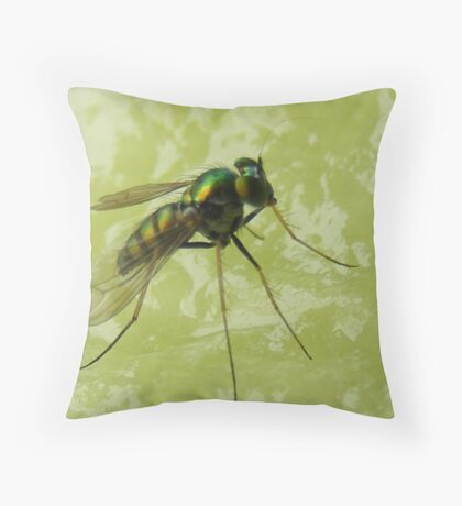 That fly is eating my melon! Throw Pillow