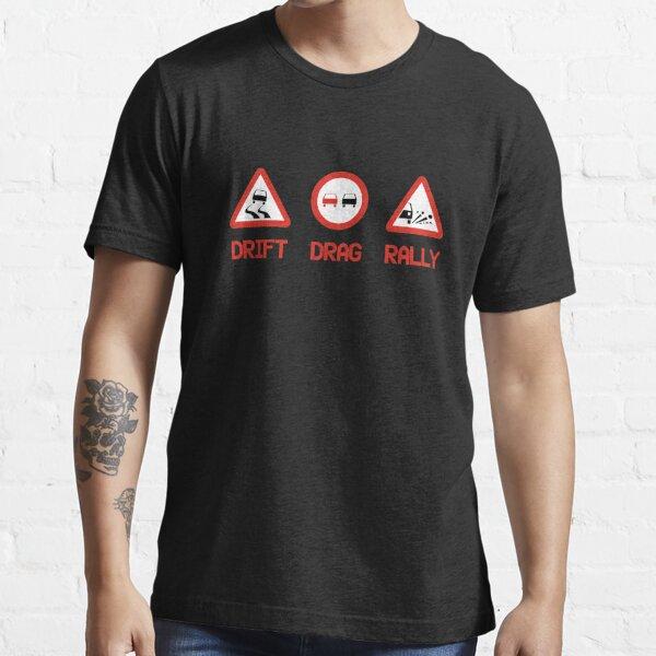 Drift Drag Rally (3) Essential T-Shirt
