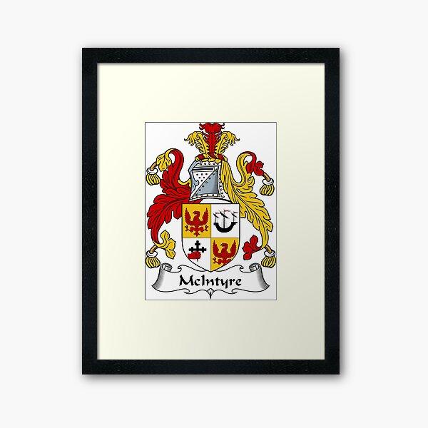 McIntyre Coat of Arms / McIntyre Family Crest Framed Art Print