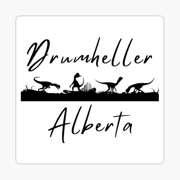 Dinosaurs in Drumheller, Alberta Sticker