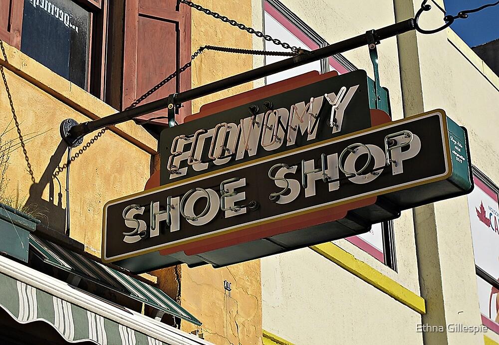 Shoe Shop Sign  by Ethna Gillespie