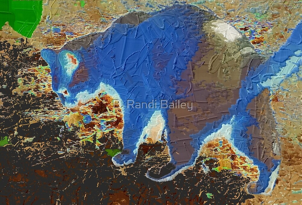 Blue cat abstract by ♥⊱ B. Randi Bailey