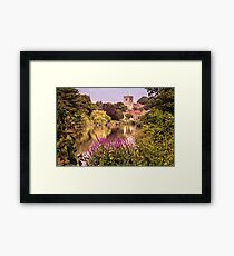 Aylesford church from the south bank Framed Print
