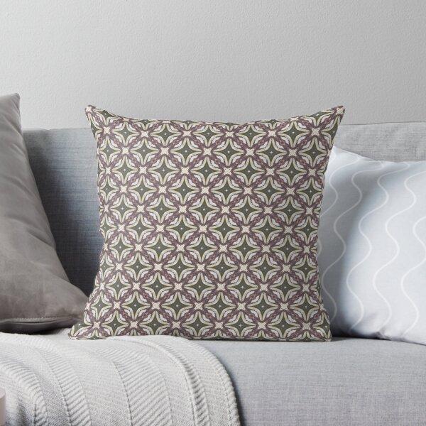 Kaleidoscope Art: Abstract Hand Painted Flower Pattern Throw Pillow