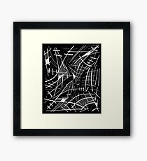 Gray abstraction Framed Print