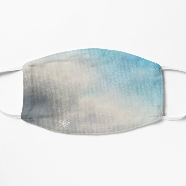 Turquoise Clouds Flat Mask