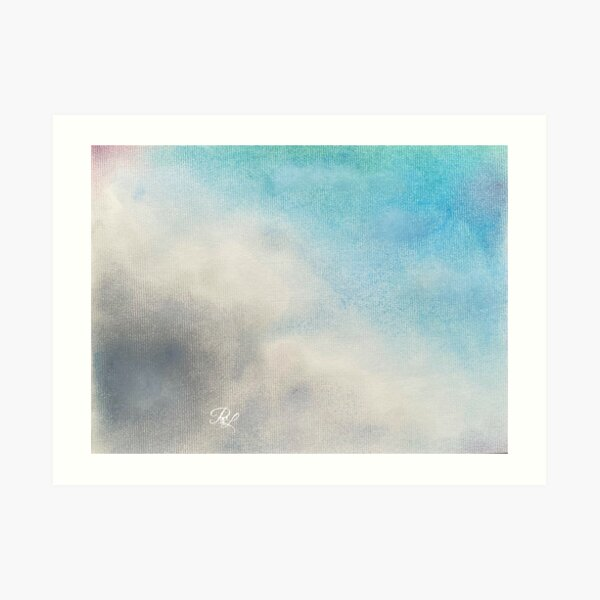 Turquoise Clouds Art Print