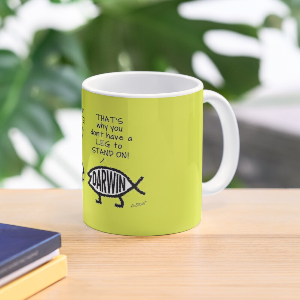 Creationists: not a leg to stand on! (Light background) Mug