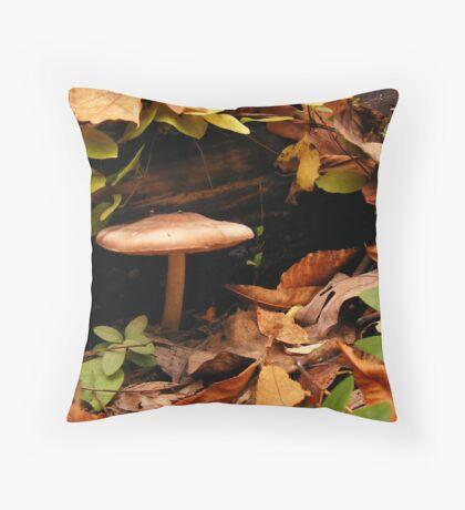 Autumn Mushroom  Throw Pillow