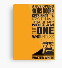 Walter Knocks Metal Print